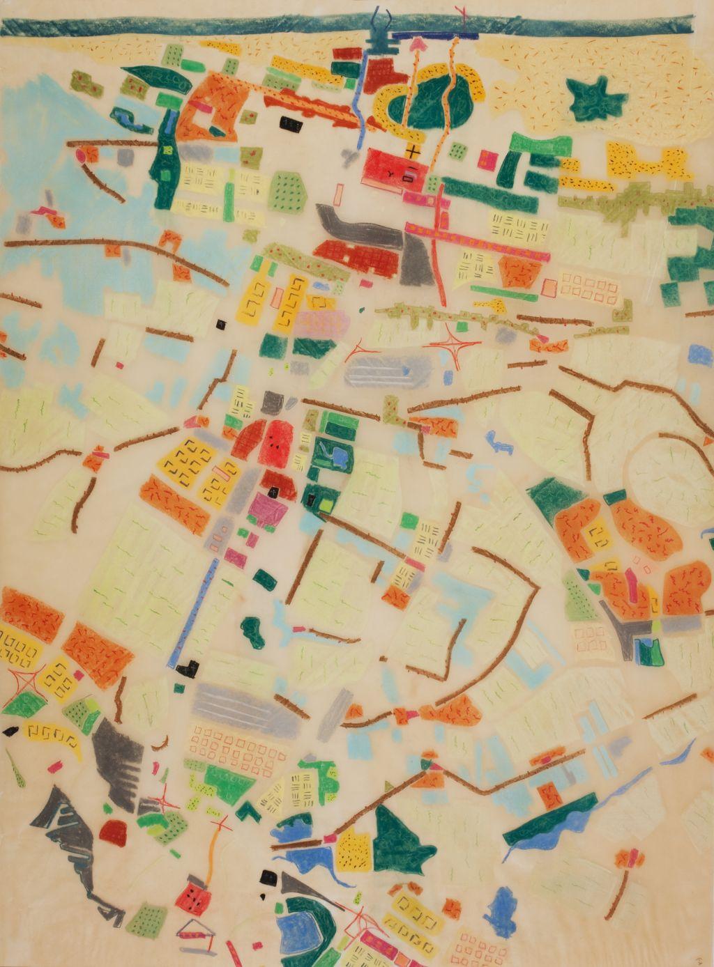 Willem Jan Neutelings. Tapijtmetropool in de regio Den Haag en Rotterdam, 1990. Collectie Het Nieuwe Instituut, NEUR t4